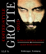 Grotte kaffe etikett