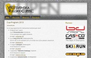 Västsvenska Rullskidcupens hemsida