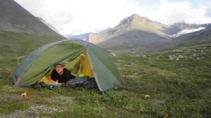Jag i tältet